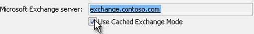 Outlook cache mode
